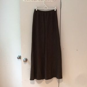 Bryan Walker Brown full length Linen Skirt